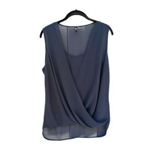 KUT From The Kloth Sleeveless Faux Wrap Sheer Top